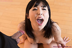 Kneeling Naked On Wooden Floor Mouth Open Cum In Her Mouth Big Tits