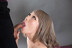 Mashiro Airi Sucking Cock Looking Up Stroking Balls