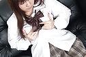 Japanese teen Shoko masturbating shaved pussy with toy