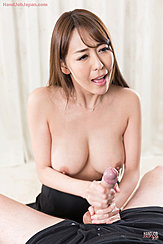 Asagiri Akari Giving Handjob Topless Cock Cumming In Her Hands