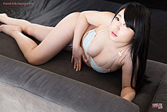 Lying On Sofa Wearing Underwear Long Hair