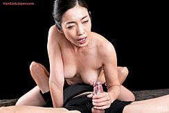 Enami Ryu Giving Handjob Cock Cumming In Her Hand