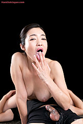 Licking Cum From Her Extended Fingers