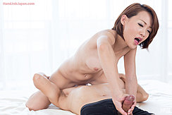 Seated Astride Face Naked Giving Handjob