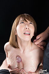 Looking Up While Giving Breast Sex Receiving Breast Cumshot