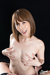 Fondling Her Cum Covered Breasts