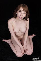 Kneeling Nude Bare Breasts Knees Pressed Together Bare Feet