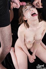 Kisaki Aya Receiving Bukkake Facial Cumshots Big Breasts