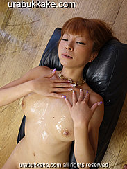 Holding Her Hands Over Her Cum Glazed Chest