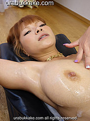 Sumire With Fingertips Resting On Her Breasts Cum Running Down From Her Tits