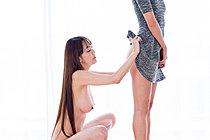 Busty Asagiri Akari Strips Hirasawa Eri And Licks Her Naked Body