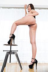 Standing Naked In High Heels