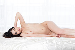 Lying On Bed Naked Small Breasts