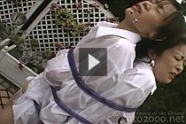 Aki Tomozaki And Mayumi Kusunoki Tied Up And Sprayed Water